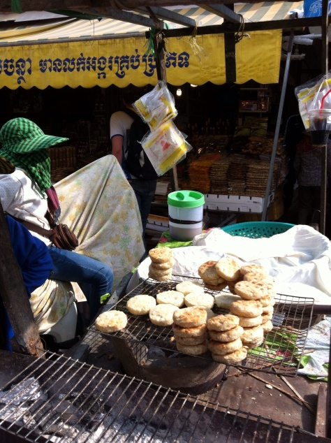 Pan Grilling in Siem Reap Markets