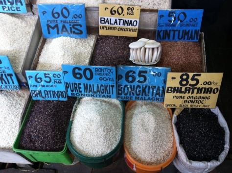 Rice varieties in Baguio City, Philippines